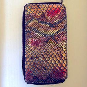 Lodis genuine leather snake print wallet
